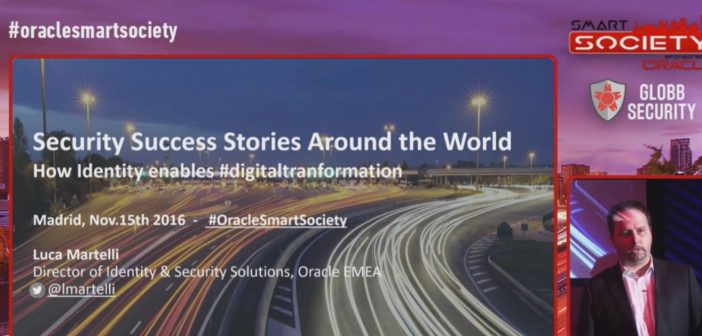 """Keynote de Luca Martelli, Oracle : """"Security Success Stories around the world"""""""