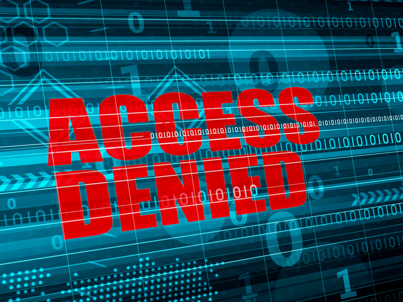 Security concept - Access denied on digital background